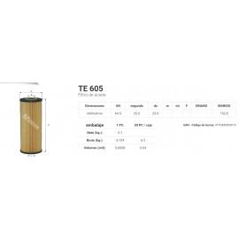 TE 605 Filtro de aceite