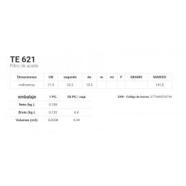 TE 621 Filtro de aceite