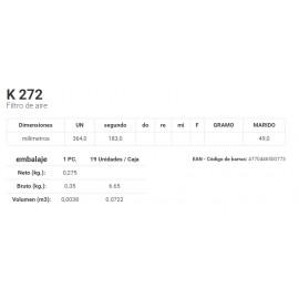 K 272 Filtro de aire
