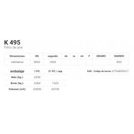 K 495 Filtro de aire