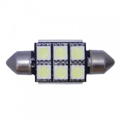 BOMBILLA PLAFONIER 6 LED 39 MM