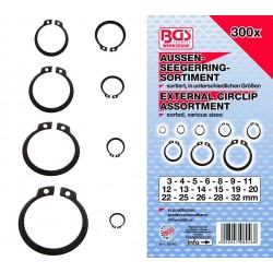 Surtido de 300 piezas de anillos exteriores 3-32mm