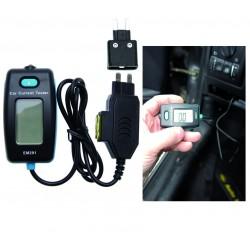 Comprobador de corriente digital para contactos de fusibles