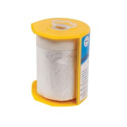 Plástico protector con cinta de pintor y dispensador